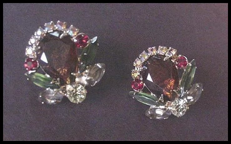 Vintage Costume Jewelry Vendome Rhinestone Earrings & Vintage Costume Jewelry Vendome Rhinestone Earrings : Forever ...