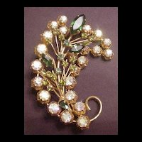 Superb Austrian Opalescent Crystal Pin
