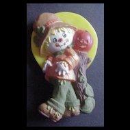 Vintage Plastic Scarecrow Pin