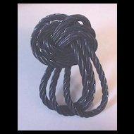 Black Licorice Twist Dress Clip
