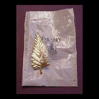 Vintage DuBarry Leaf Pin in Original Package