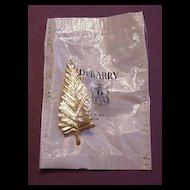 Vintage DuBarry Leaf Pin in Original Package