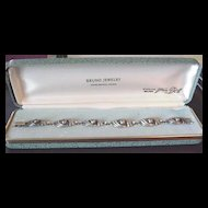 Vintage Sterling Silver VanDell Bracelet in Original Box