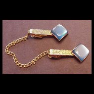 Blue Moonglow Sweater Clips Vintage