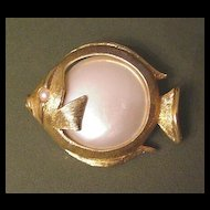 Napier Faux Pearl Fish Pin