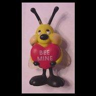 Vintage Plastic Be Bee My Valentine Pin