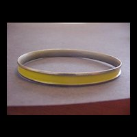Napier Vintage Yellow Bangle Bracelet