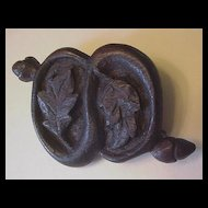 Victorian Carved Oak Leaves and Acorns Pin
