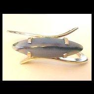 Wild Genuine Banded Agate Saucer Bracelet