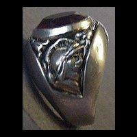 Big Red Rhinestone Ring