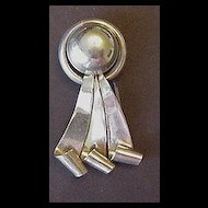 Napier Sterling Silver Retro Ribbon Curls Fur Clip