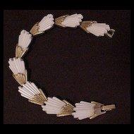 White Fan Style Bracelet