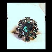 Green Rinestone Ring