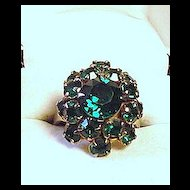 Green Rinestone Ring