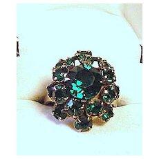 Green  Rhinestone Ring