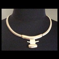 Gold tone Monet   Necklace