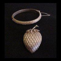 Trifari Strawberry Pin and Bracelet