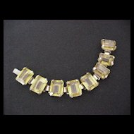 Big & Bold Topaz Rhinestone Bracelet