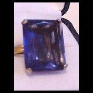 Sapphire Blue Rhinestone Ring