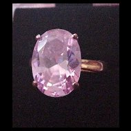 Purple Rhinestone Cocktail Ring