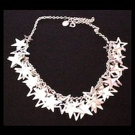 Silver Color Stars Necklace