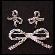 Trifari Pin and Earrings