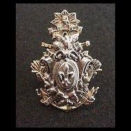 ART  Heraldic Motif Scarf Ring