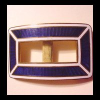Cobalt Blue Enameled Buckle
