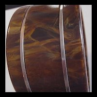 Wide Bakelite Bangle Bracelet
