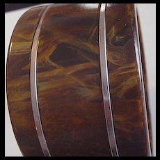 Wide Bakelite Bangle Bracelet