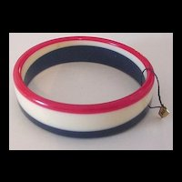 Red White and Blue Bangle Bracelet
