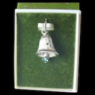 Sterling Silver Mechanical Bell Charm