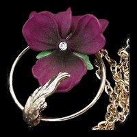 Vintage NWT Violet Necklace