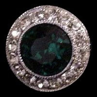 Green and Clears Rhinestone Ring