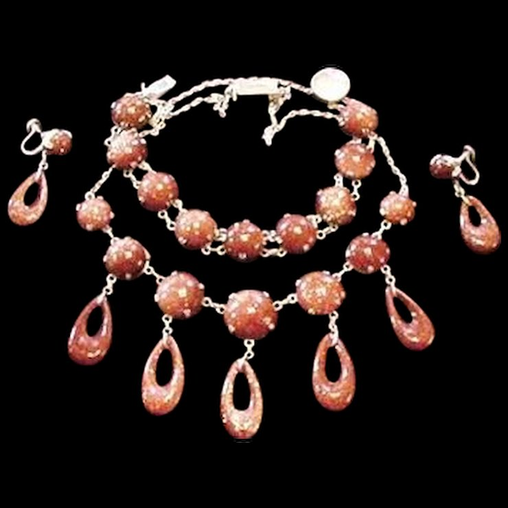 goldstone item jewelry crystal stone energy drop women necklace fine fashion party beaded yumten lady gemstone water