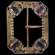 Early Czech Rhinestone Buckle