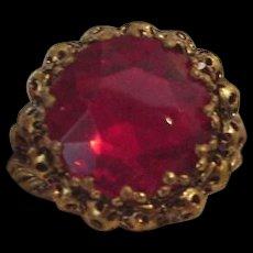 Large Red Rhinestone Cocktail Ring