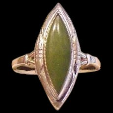 Sterling and Jade  Ring