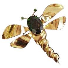 Big Retro Modern Dragonfly Pin