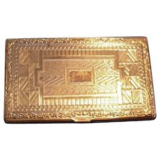 Art Deco Business Calling Card Case