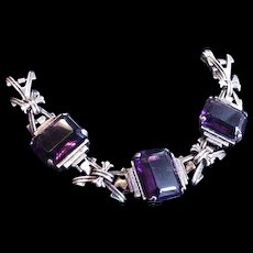 Superb Purple Glass Bracelet