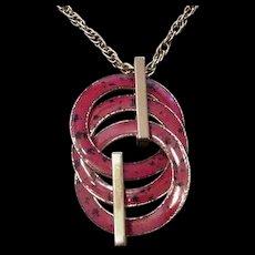 Red Enamel Pin Pendant
