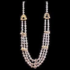 Early Napier Crystal Necklace
