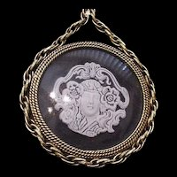 Figural Revival Medallion Necklace