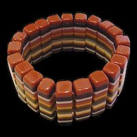 Carved Laminated Lucite Bracelet