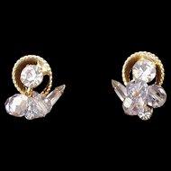 D and E aka Juliana Blue Crystal Earrings