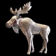Sterling Silver Moose Pin