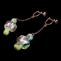 Vintage Murano Glass Halo Bead Earrings