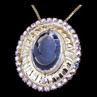 Rhinestone Intaglio Pin and Pendant