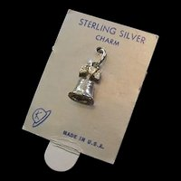 Sterling Liberty Bell Charm